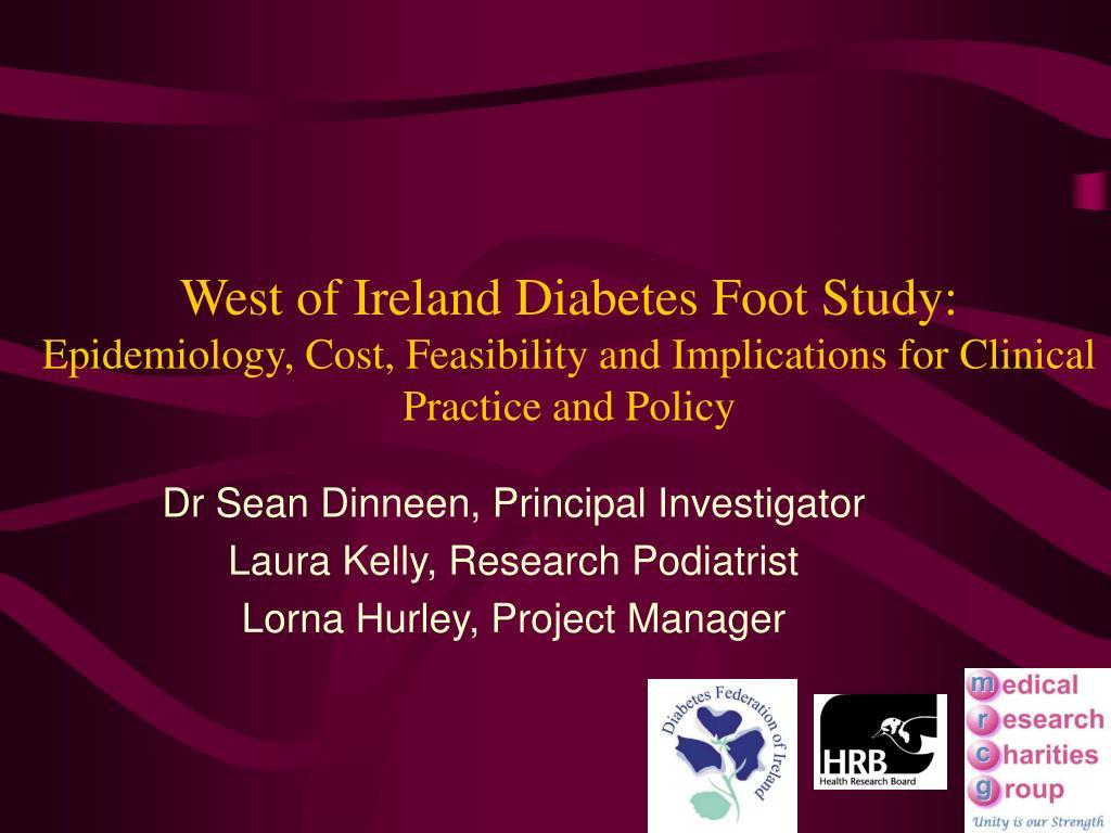 West of Ireland Diabetes Foot Study: