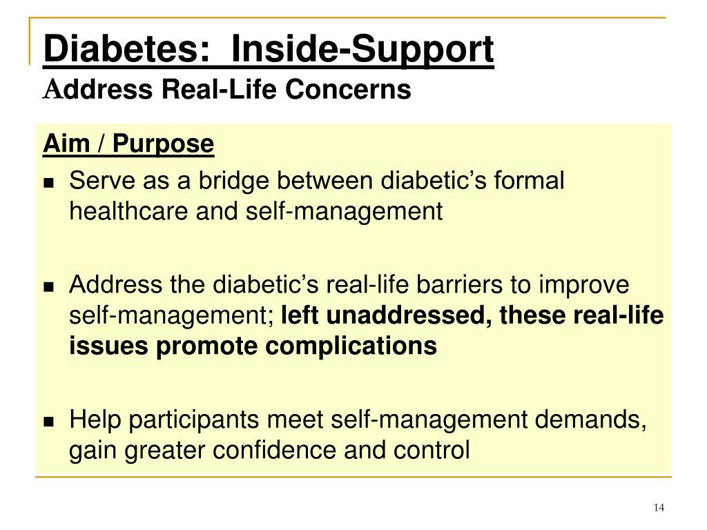 Diabetes:  Inside-Support