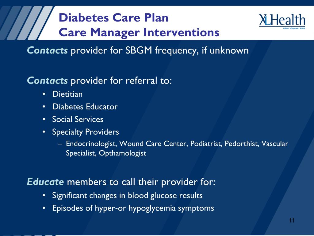 Diabetes Care Plan
