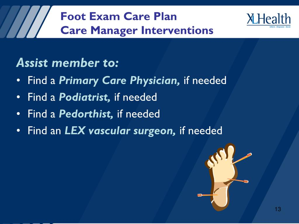 Foot Exam Care Plan