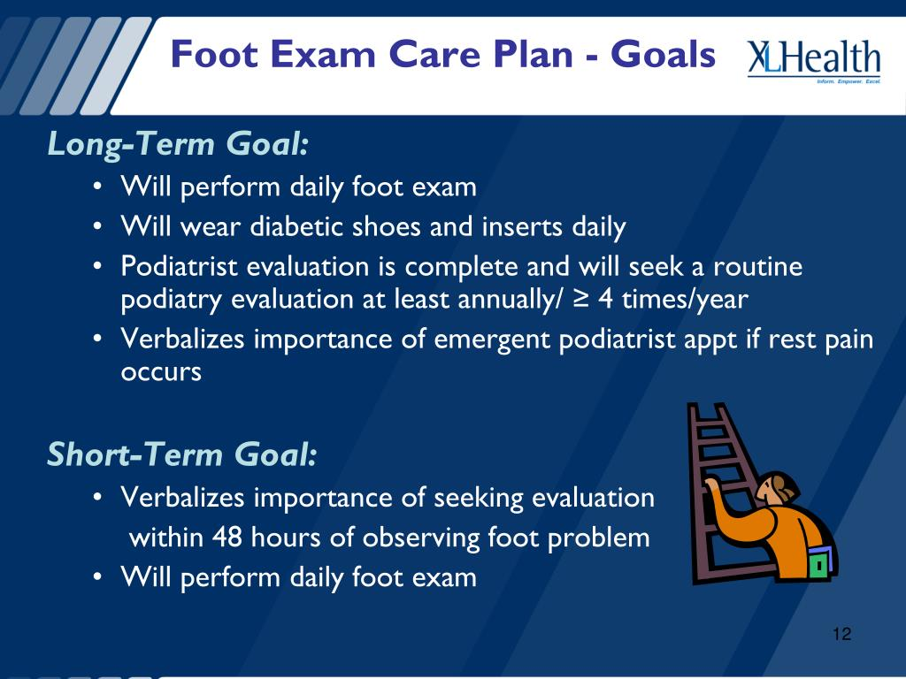 Foot Exam Care Plan - Goals