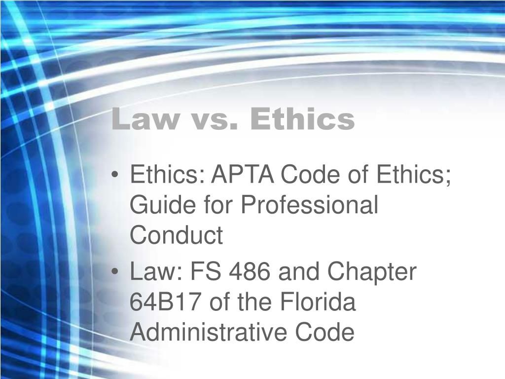 Law vs. Ethics