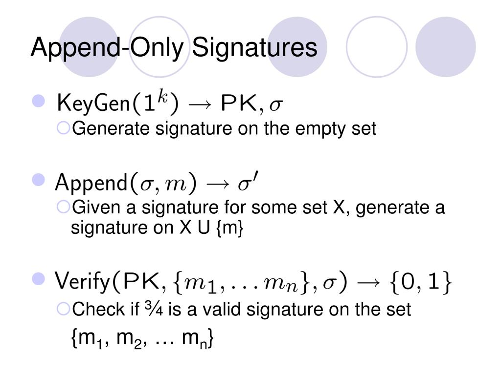 Append-Only Signatures