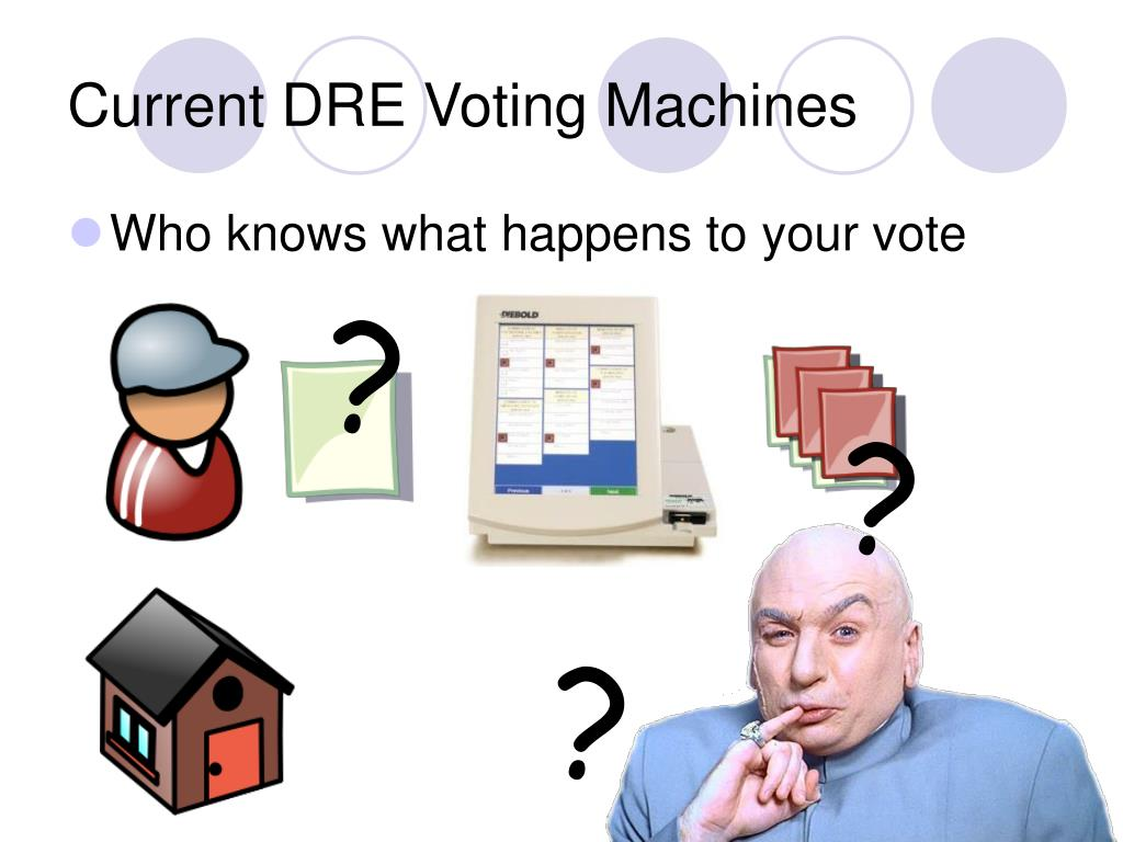 Current DRE Voting Machines