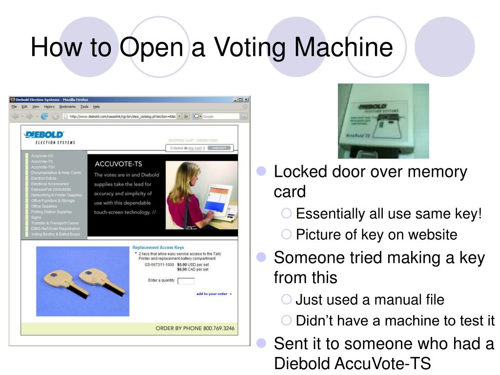 How to Open a Voting Machine