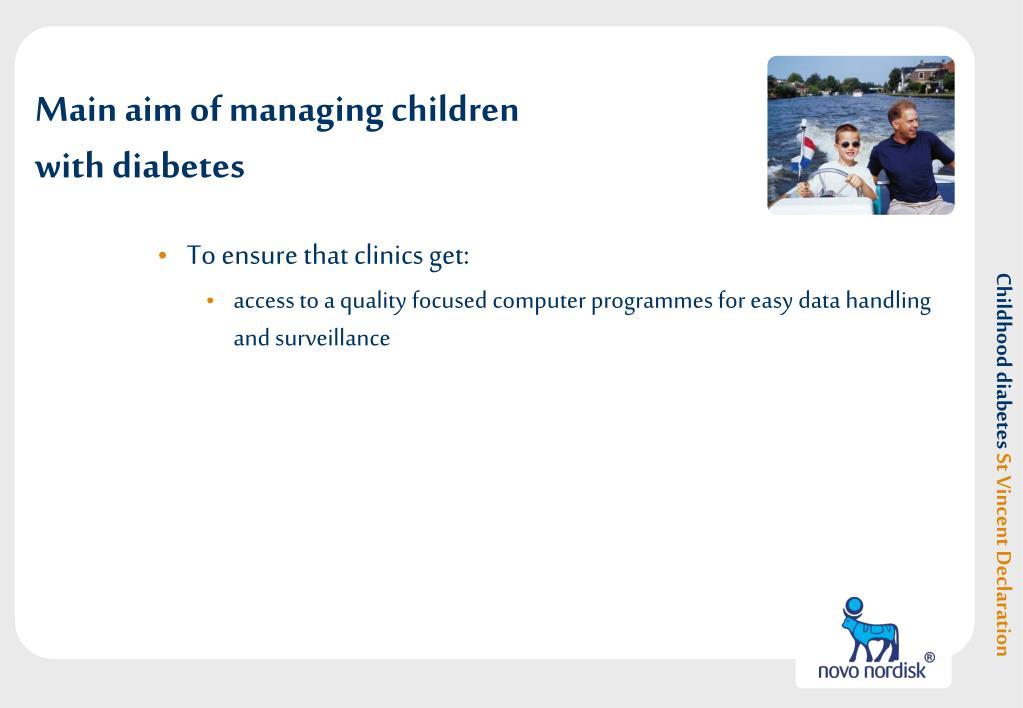 Main aim of managing children