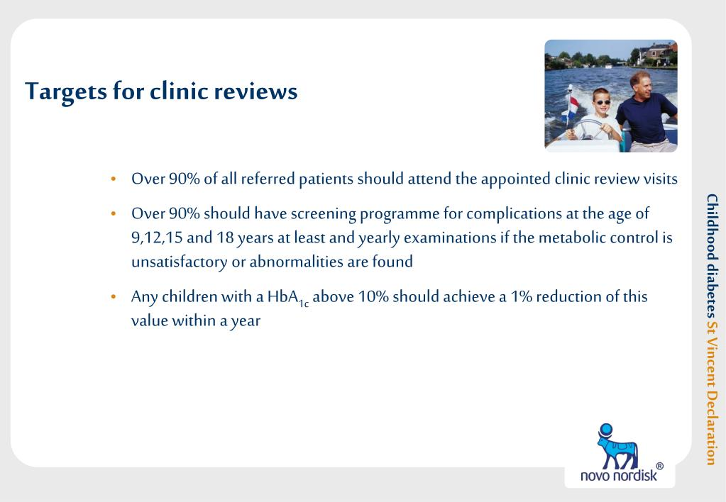 Targets for clinic reviews