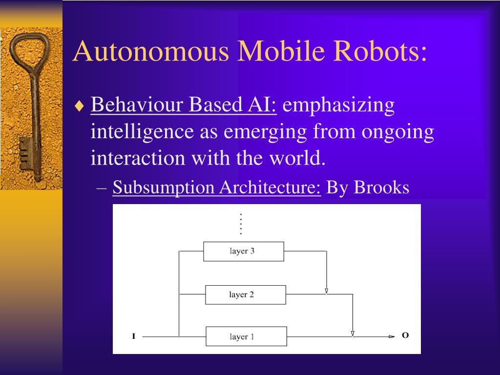 Autonomous Mobile Robots: