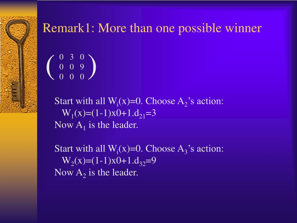 Remark1: More than one possible winner