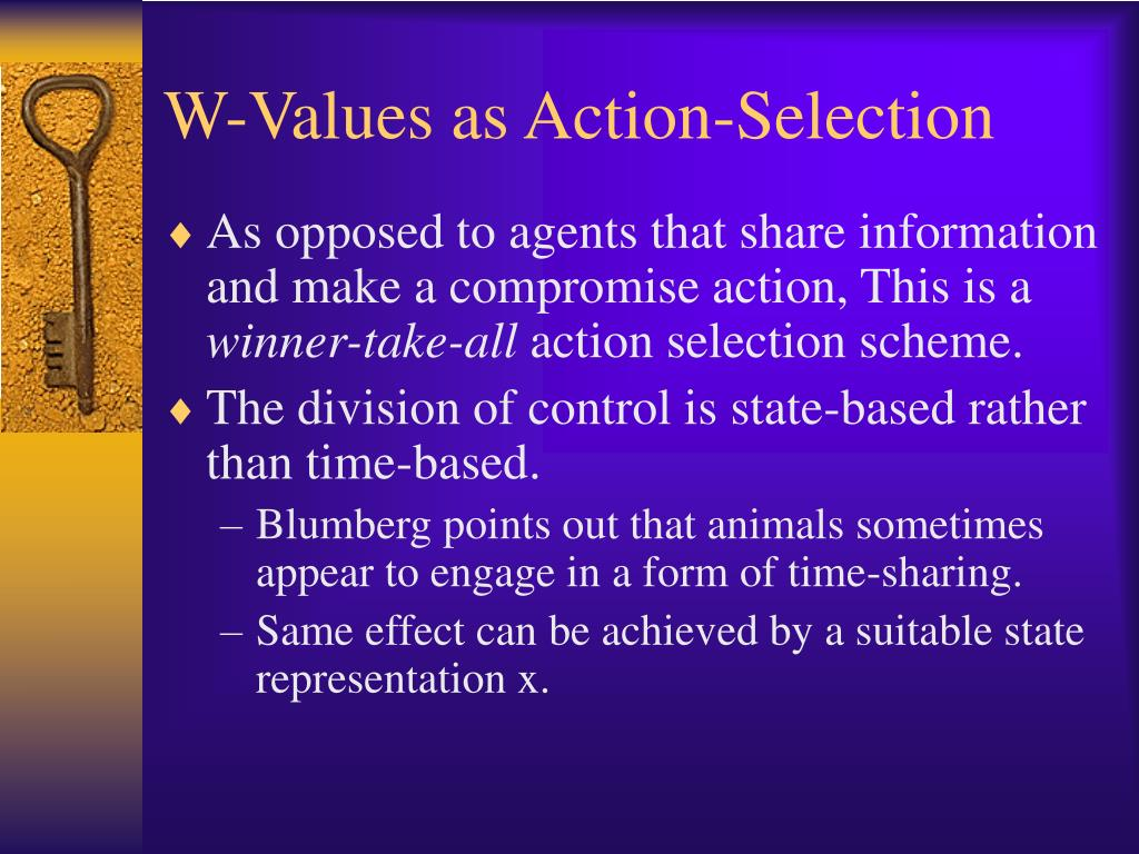 W-Values as Action-Selection