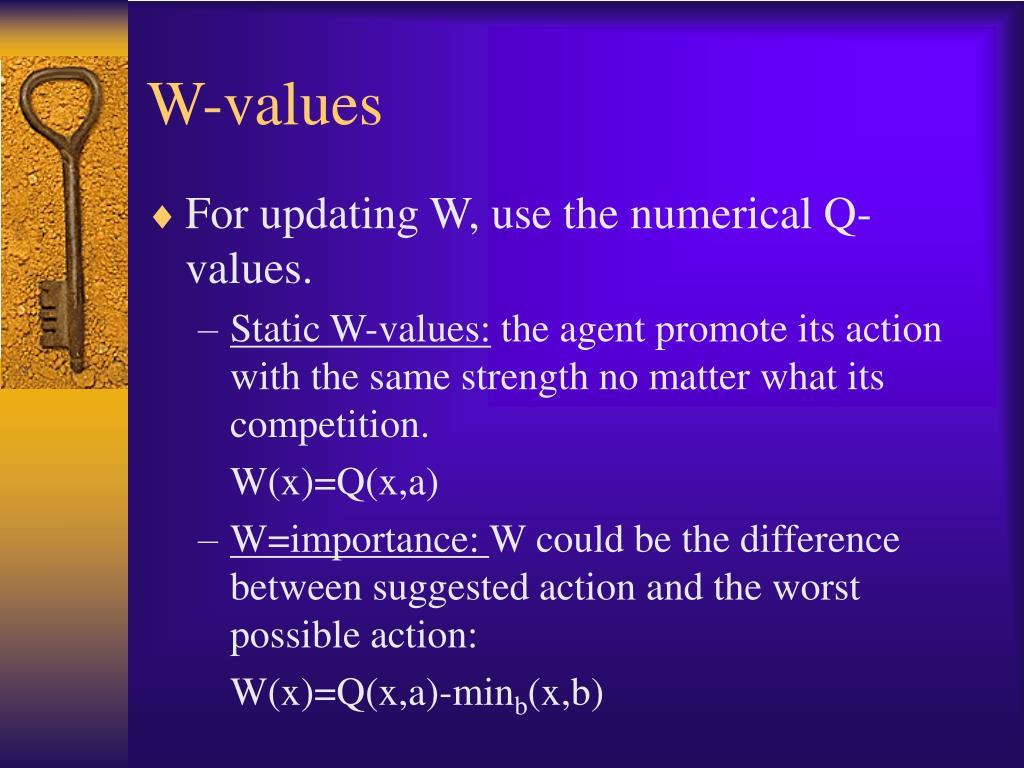 W-values