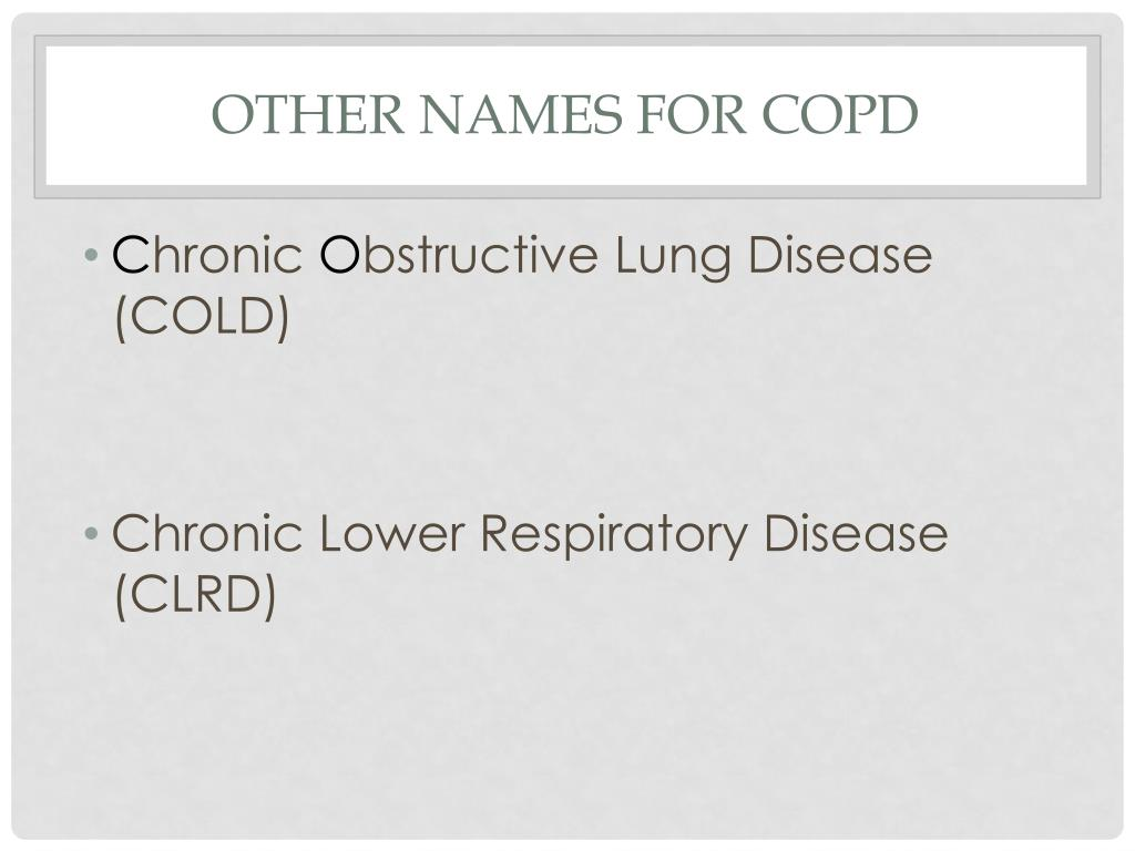Other names for COPD