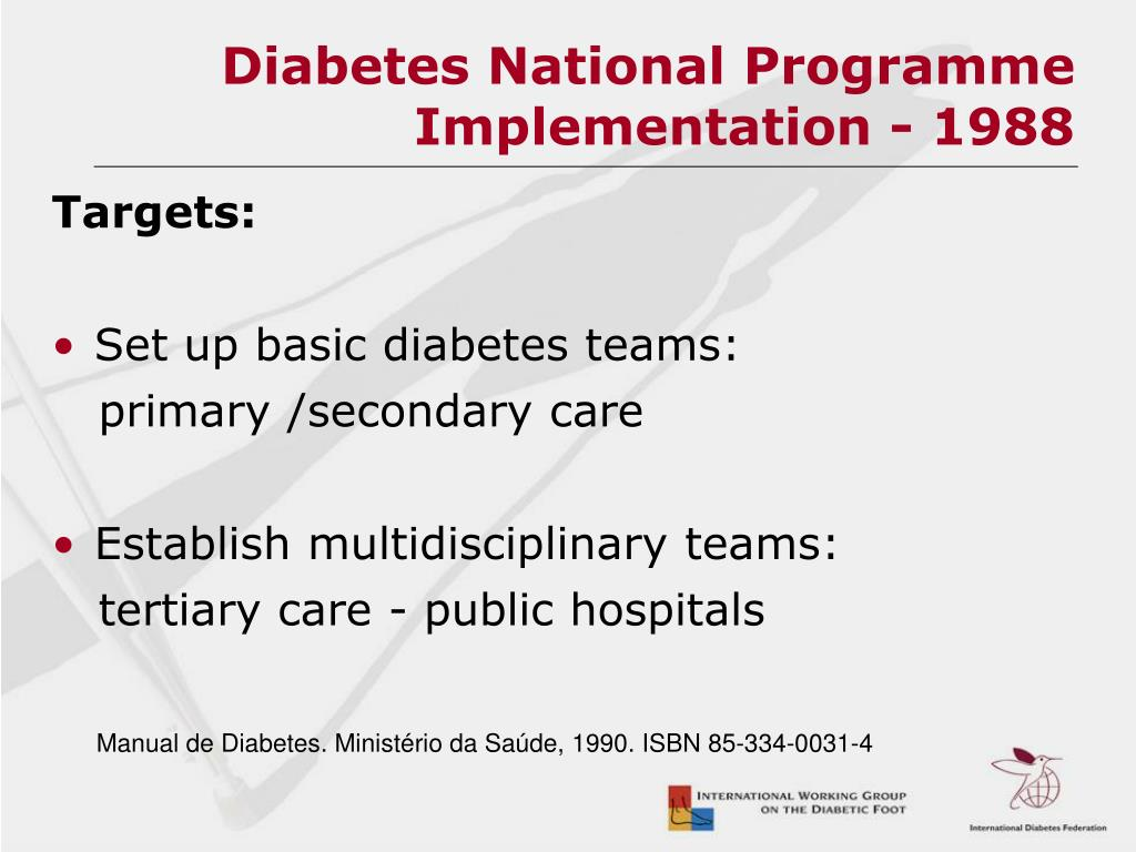 Diabetes National Programme