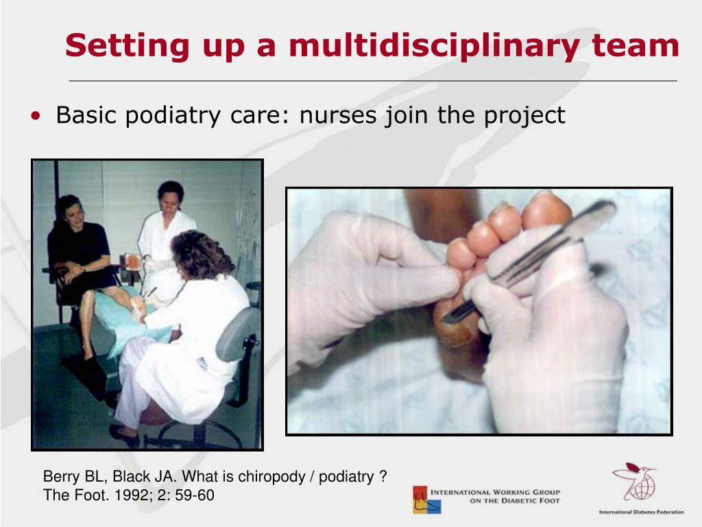 Setting up a multidisciplinary team