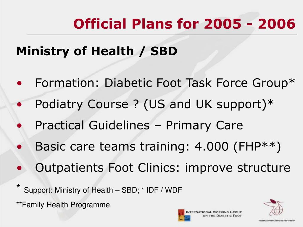 Official Plans for 2005 - 2006