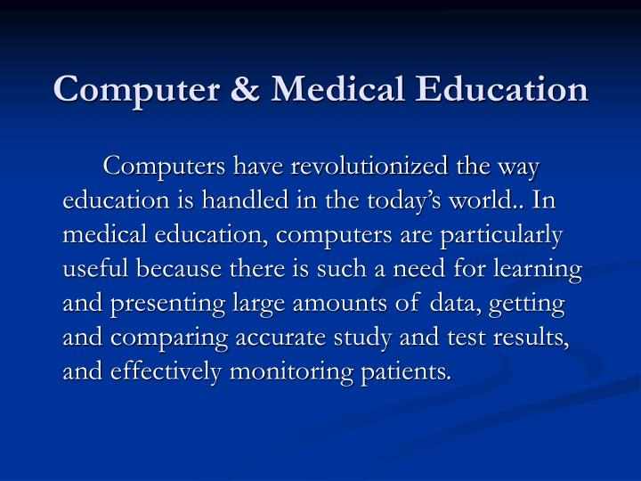 Computer medical education