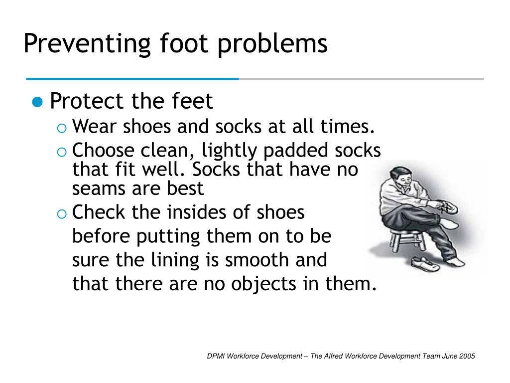 Preventing foot problems