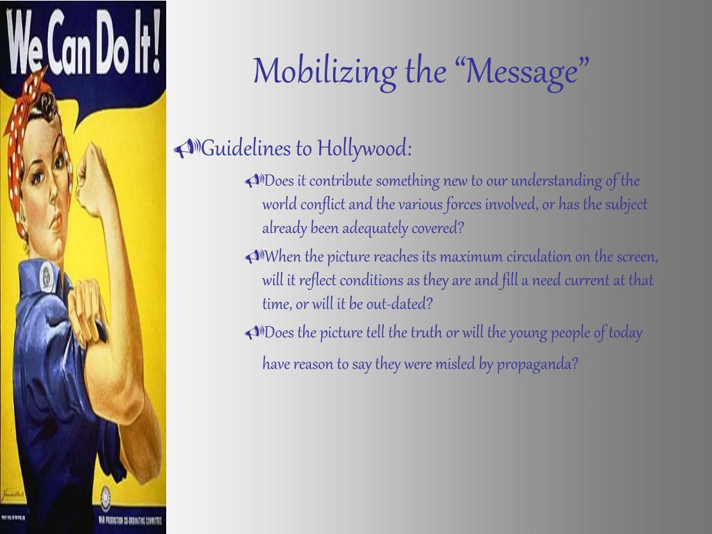 "Mobilizing the ""Message"""