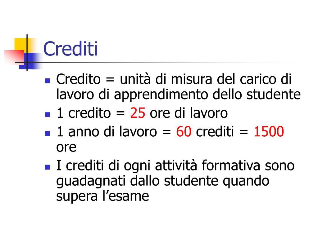 Crediti