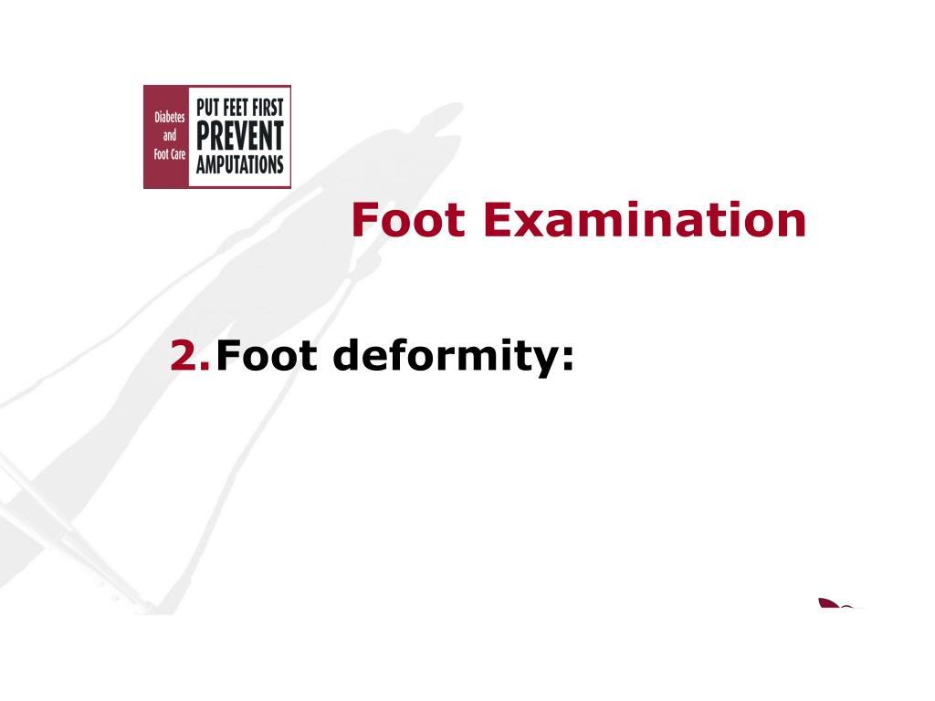 Foot Examination