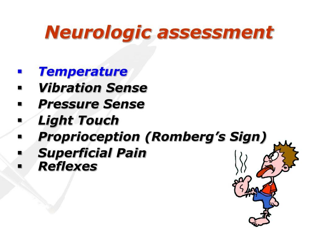 Neurologic assessment