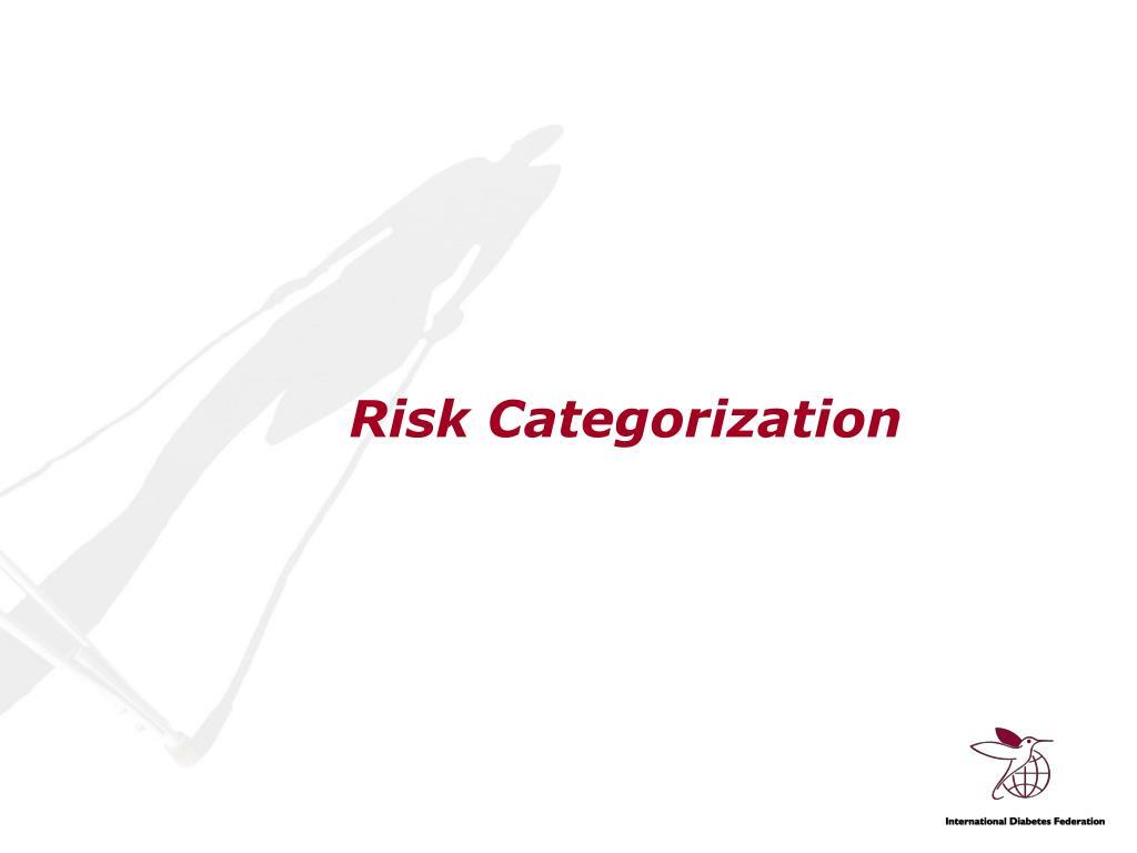 Risk Categorization