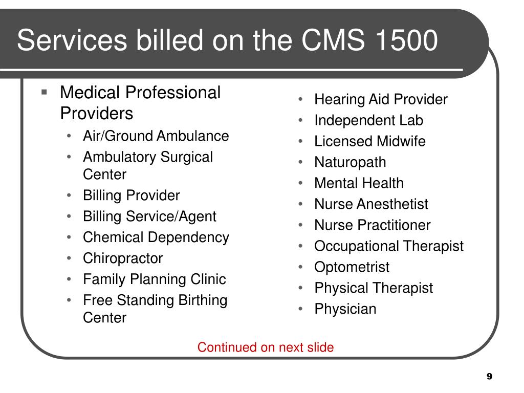 Medical Professional Providers