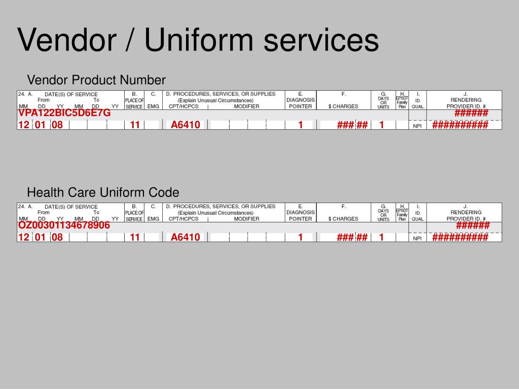 Vendor / Uniform services