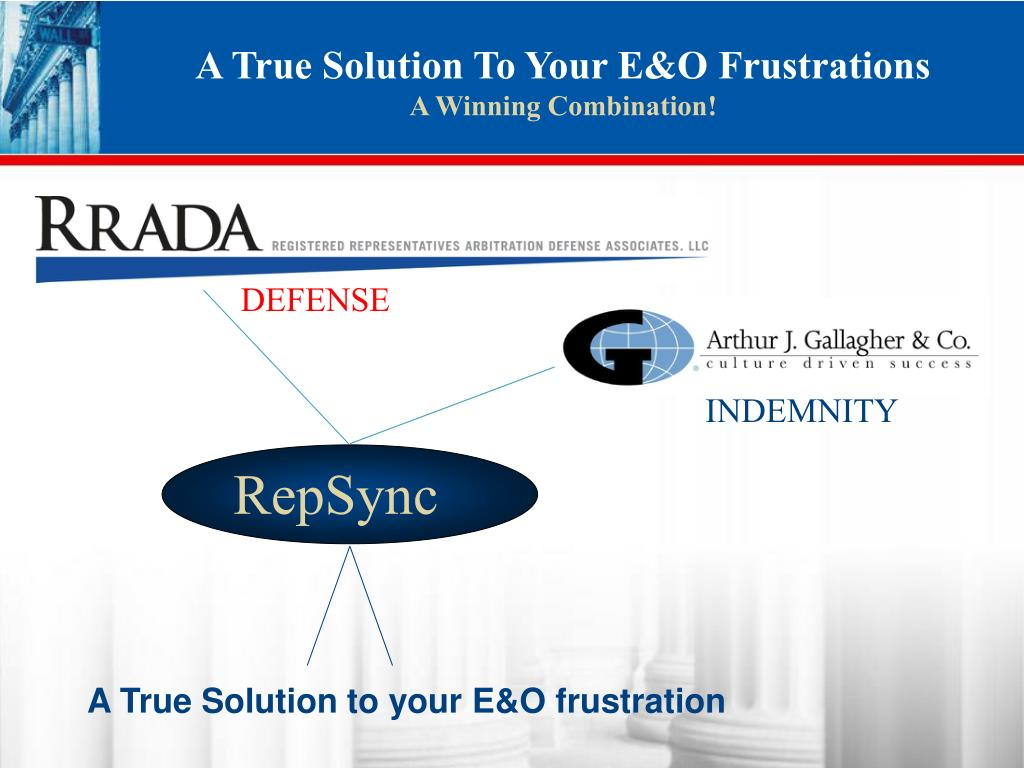 A True Solution To Your E&O Frustrations