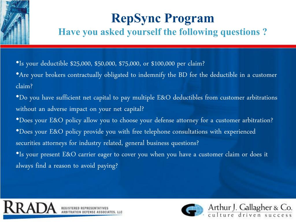 RepSync Program