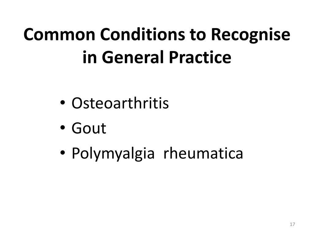 Common Conditions to Recognise in General Practice