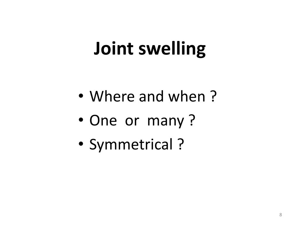 Joint swelling