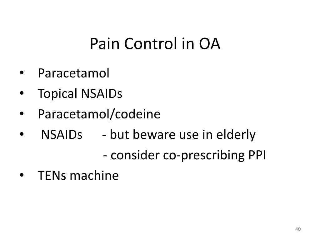 Pain Control in OA