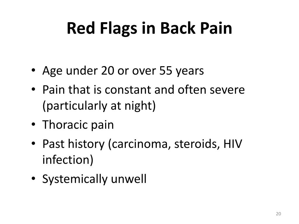 Red Flags in Back Pain