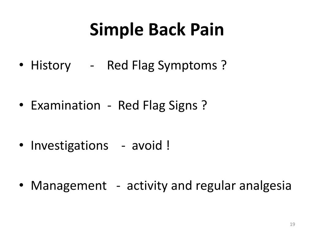 Simple Back Pain