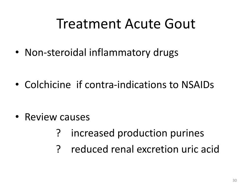 Treatment Acute Gout