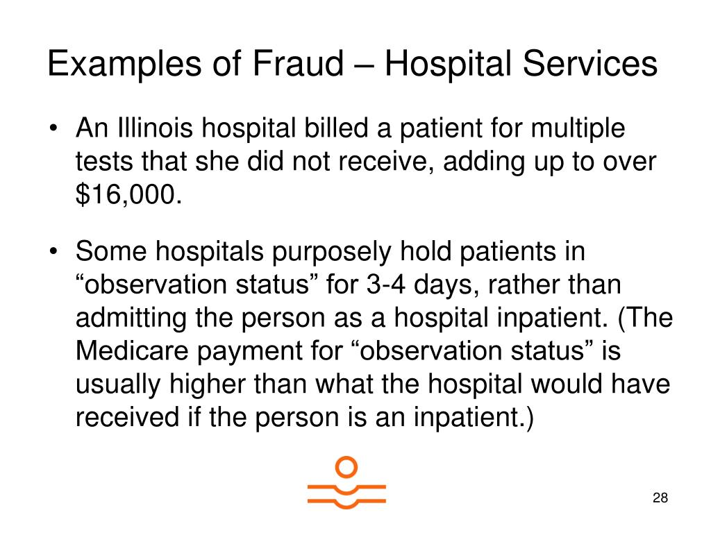 Examples of Fraud – Hospital Services