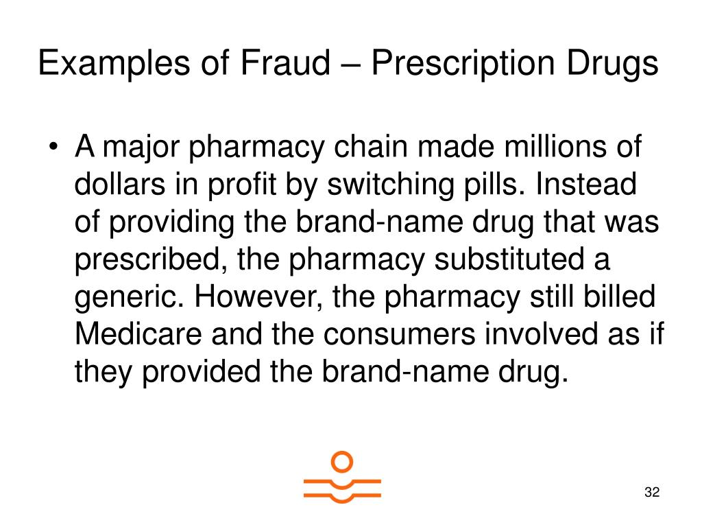 Examples of Fraud – Prescription Drugs