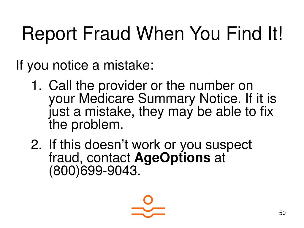 Report Fraud When You Find It!