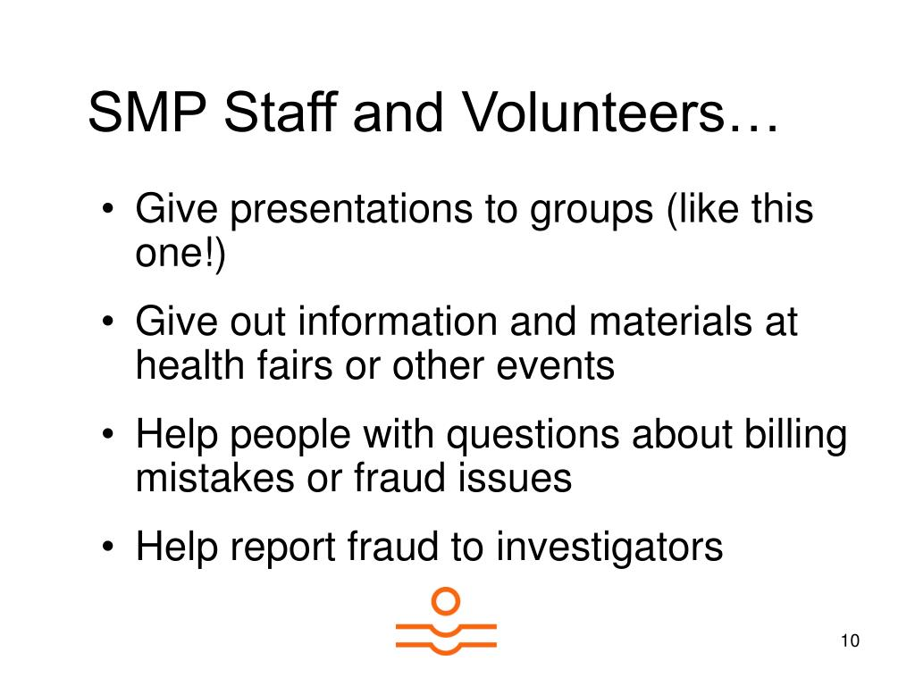 SMP Staff and Volunteers…