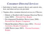 consumer directed services33