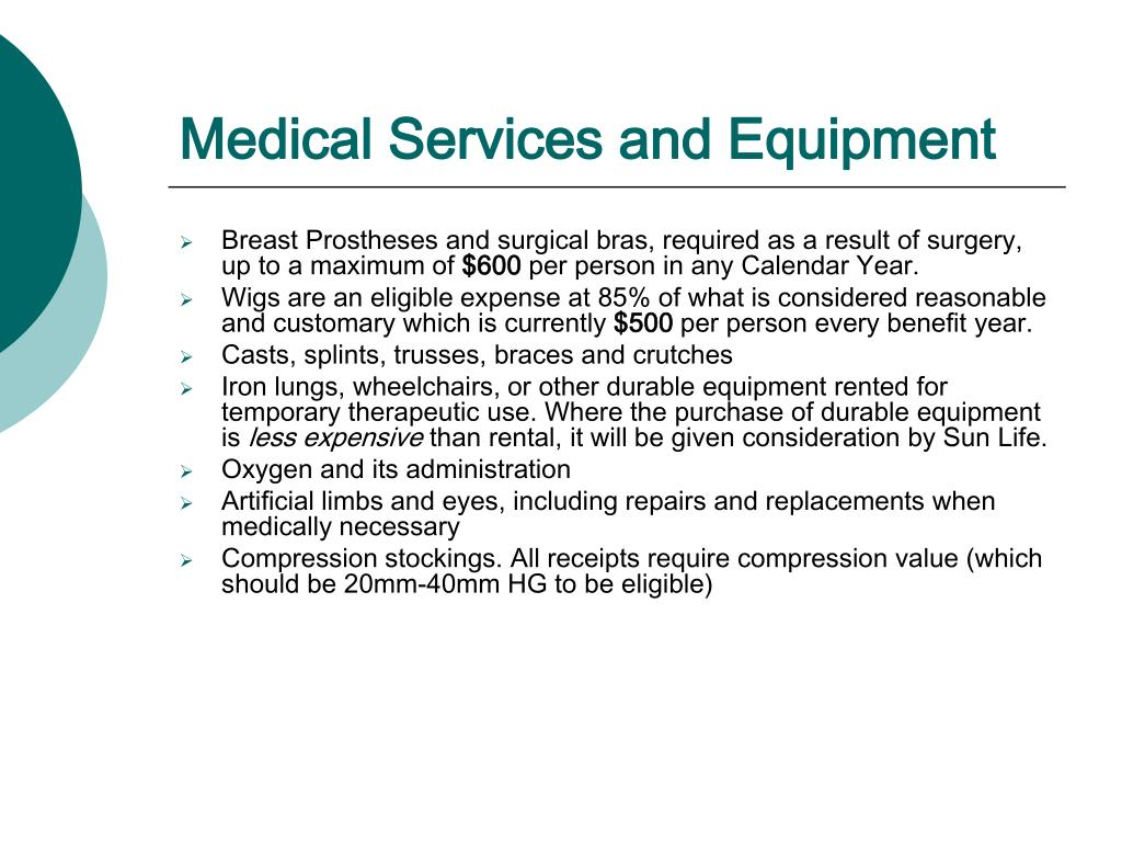 Medical Services and Equipment