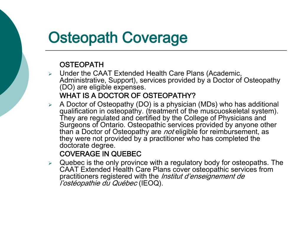 Osteopath Coverage