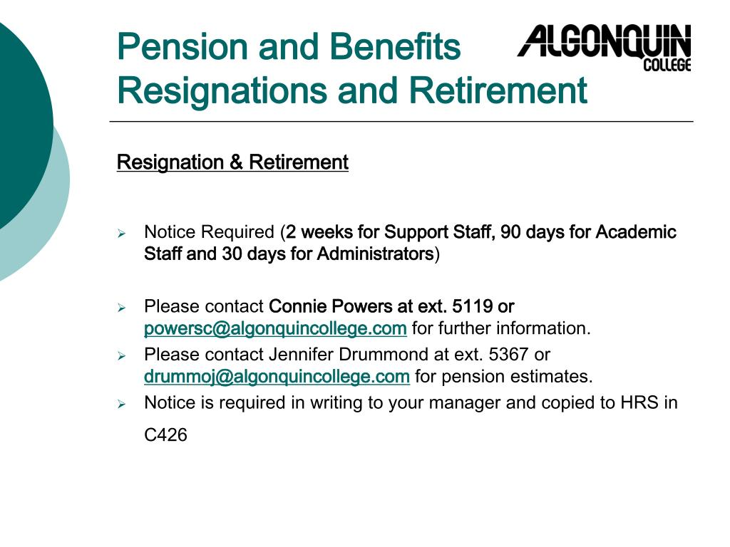 Pension and Benefits