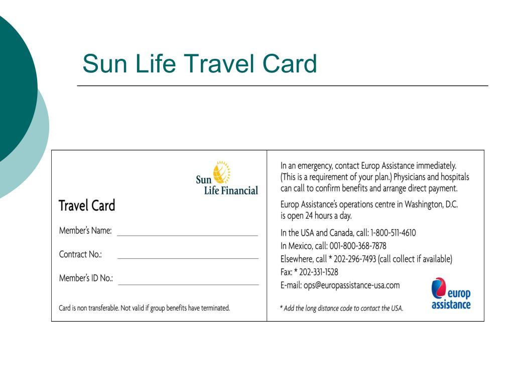 Sun Life Travel Card