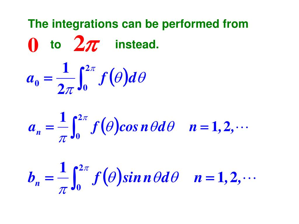 The integrations can be performed from