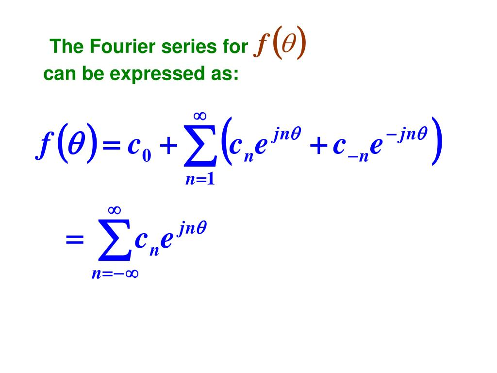 The Fourier series for