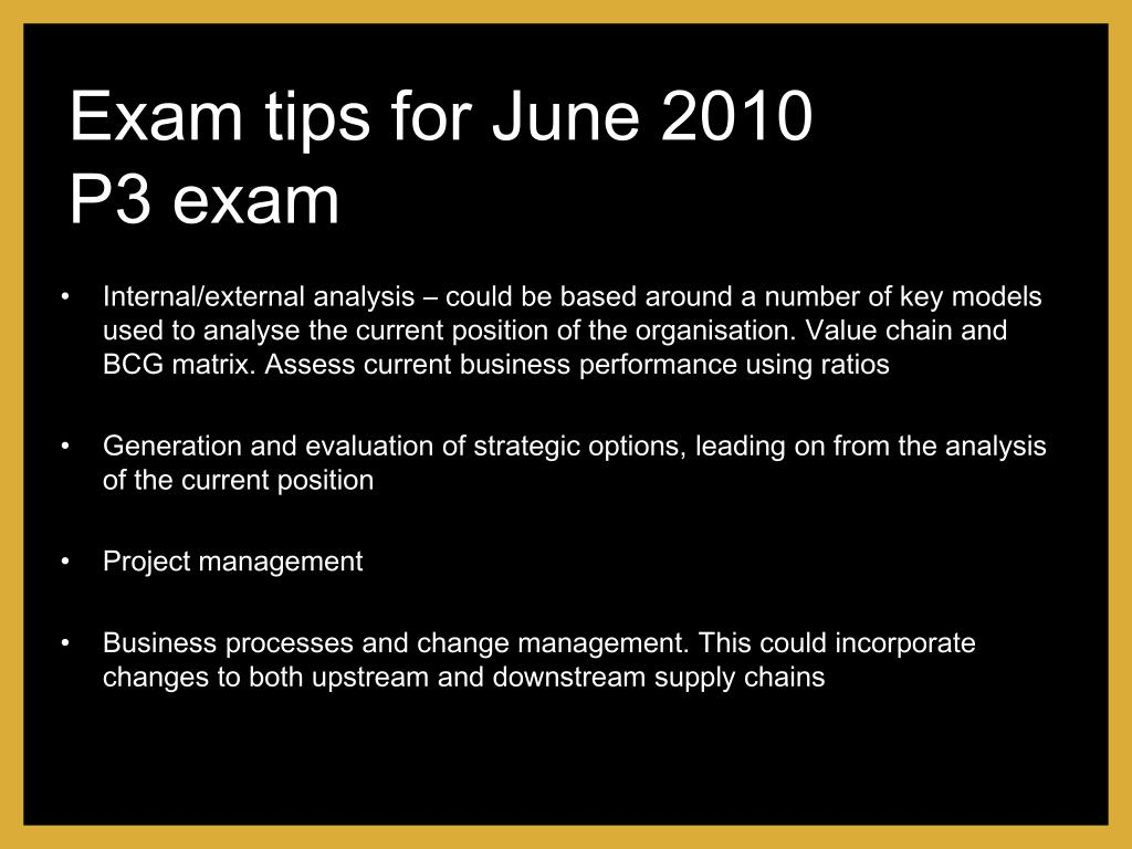Exam tips for June 2010