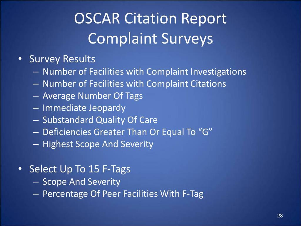 OSCAR Citation Report