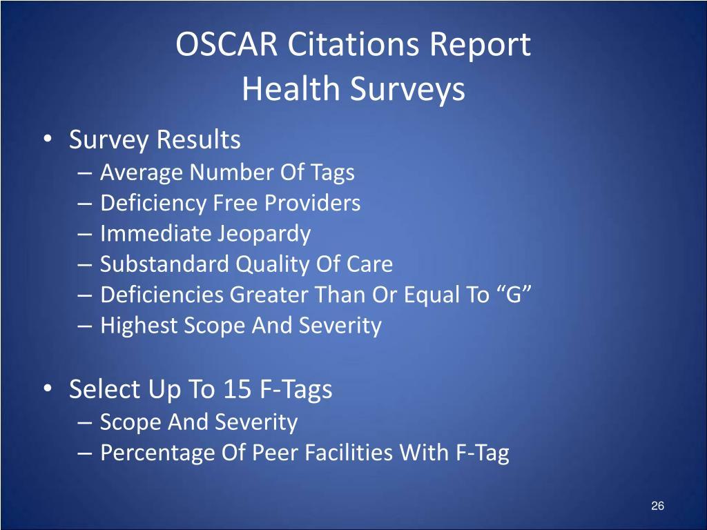 OSCAR Citations Report